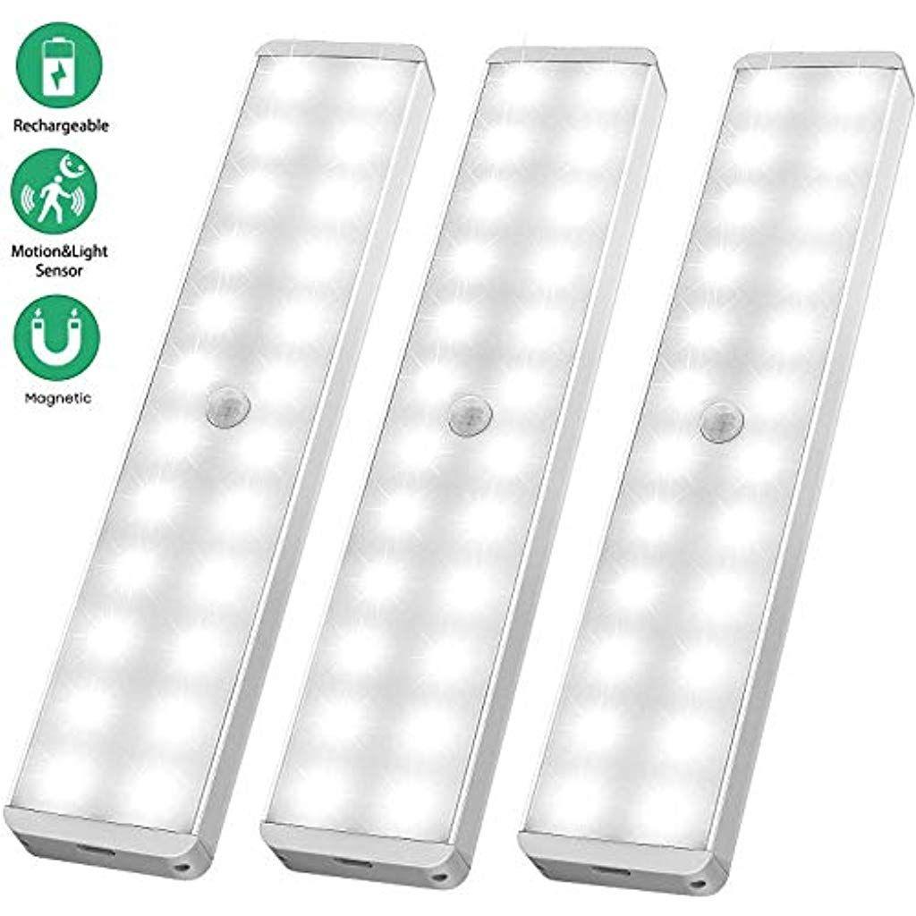 Led Sensor Licht 24 Led Wiederaufladbar Schranklicht Mit Bewegungsmelderintelligente Led Kuchenleuchteweiches Licht Fur Kuc Led Einbauleuchten Innenbeleuchtung