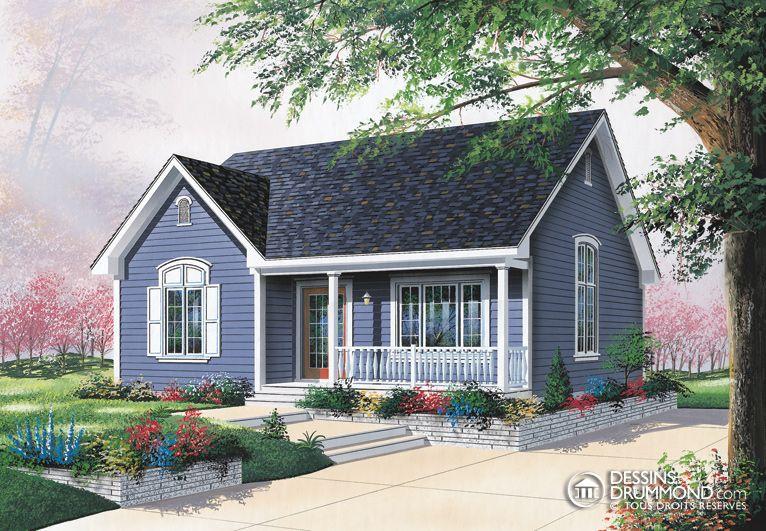 house_plan_maison_plain_pied_Bungalow_W4151 maison Pinterest