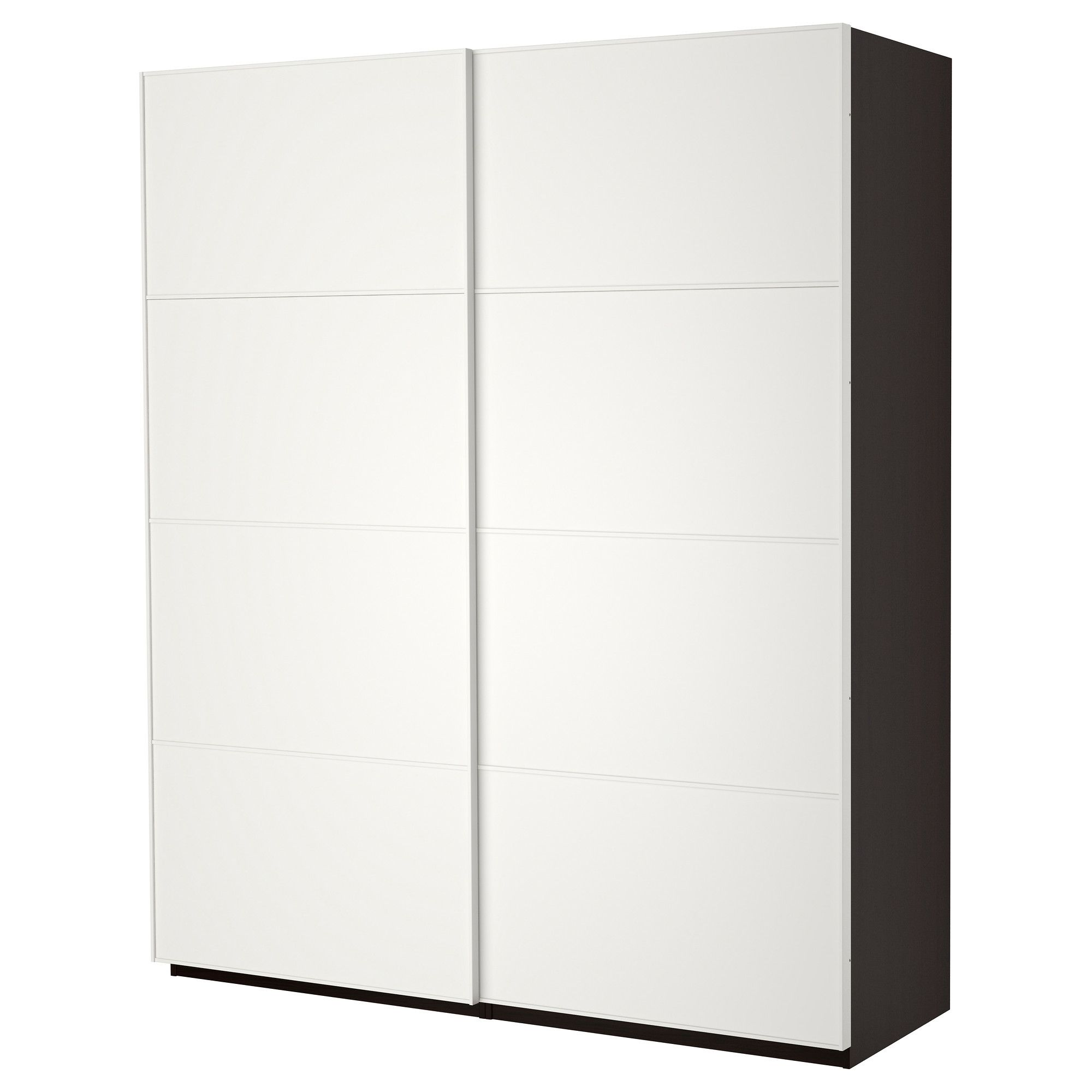 PAX Roupeiro c/portas deslizantes - pret-cast, 200x44x236 cm - IKEA
