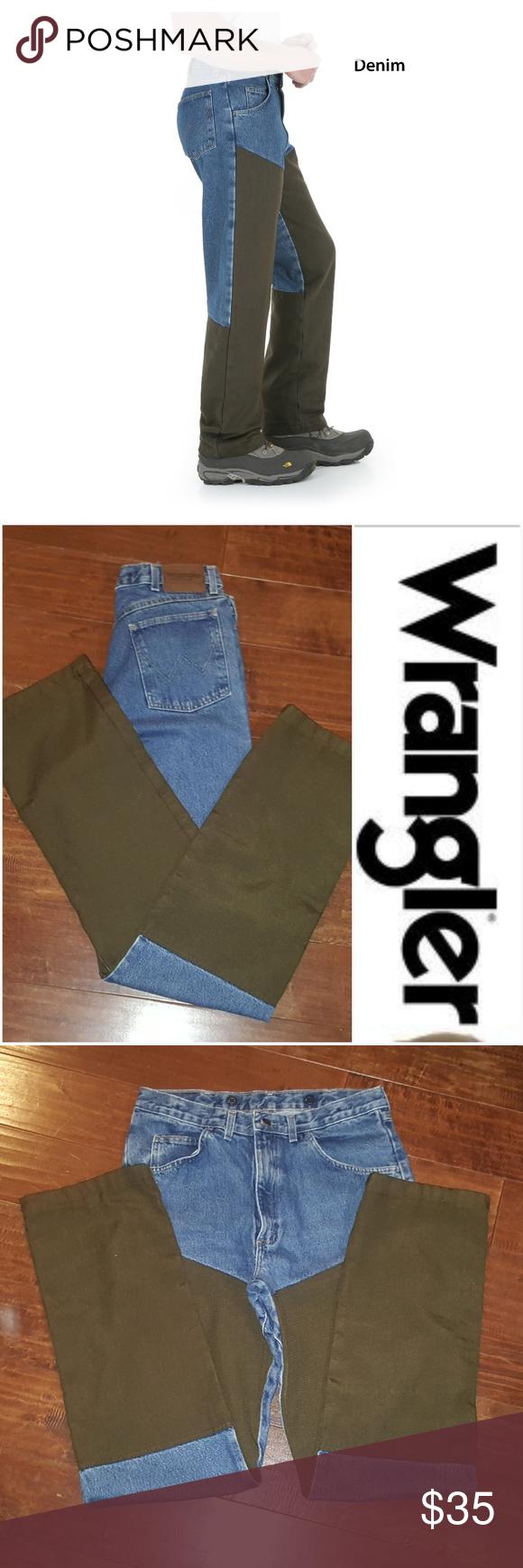 77c7b8d9 Loose Fit · Legs · Wrangler Pro-Gear Upland Blue/Brown Jeans □Wrangler  □Men's 34W x 36L