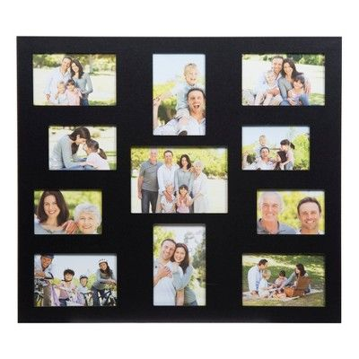 Display Your Cherished Photos With This 11 Opening Carr Collage Frame This Lovely Frame Features 11 Ope Collage Frames Frame Wall Collage Black Picture Frames