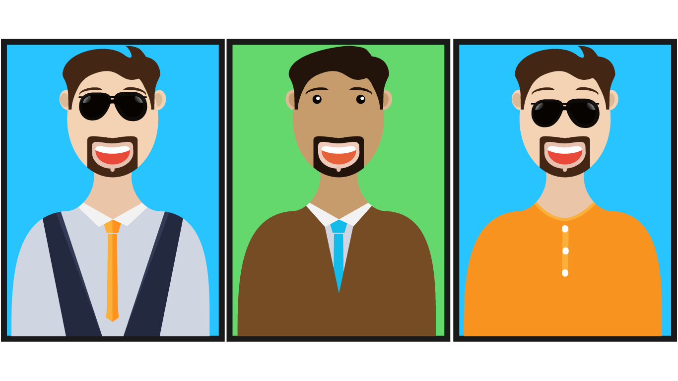 Man Face Color Male Face Illustration Character