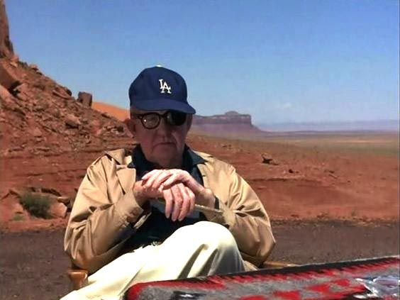 John Ford at home in Monument Valley.
