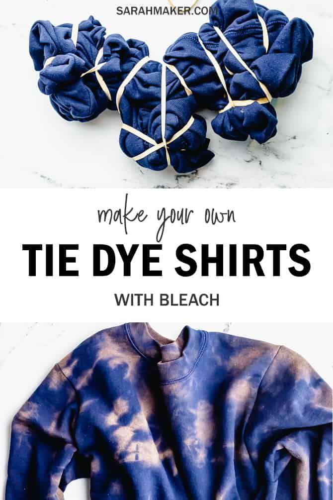 How to Bleach Tie-Dye a Sweatshirt - Easy DIY