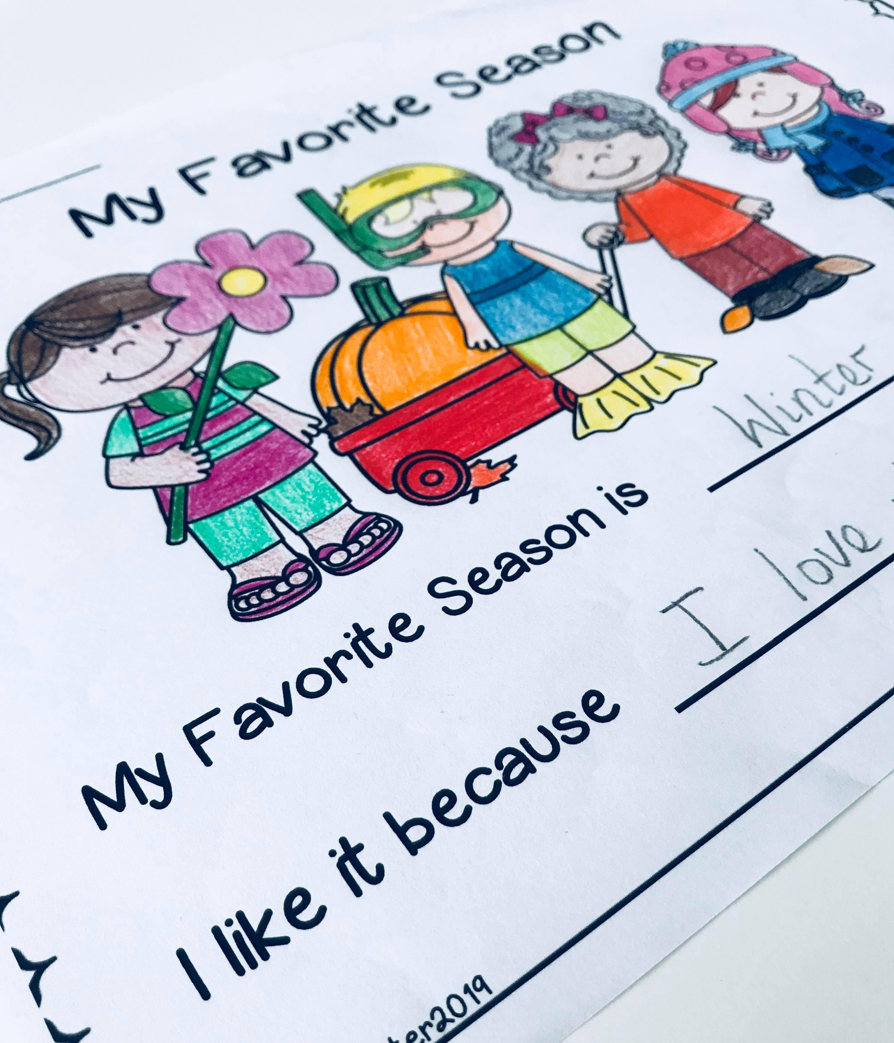 My Favorite Season Writing Prompts