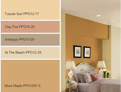 On The Sunny Side Paint Color Palette By Ppg Voice Of Color Get These Paint Colors Tinted In