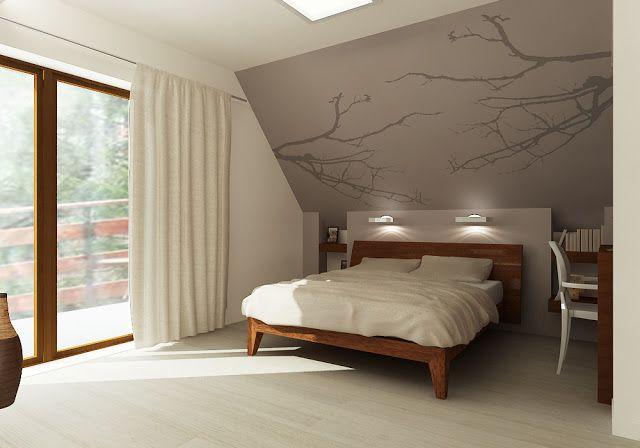 łóżko Pod Skosem Sypialnia W 2019 Sypialnia Pomysły Do