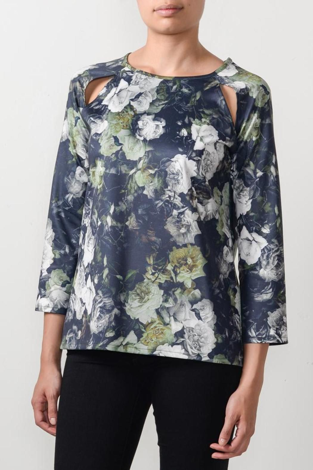 Floral printed top with shoulder cut out and long sleeves - fitted and perfect with denim! Dry Clean Only.Sizes are Australian.    US Size 1 = AUS 4; US 2 = AUS 6; US 4 = AUS 8; US 6 = AUS 10; US 8 = AUS 12   Krule Floral Top  by Lucy McIntosh . Clothing - Tops - Blouses & Shirts Toronto, Canada