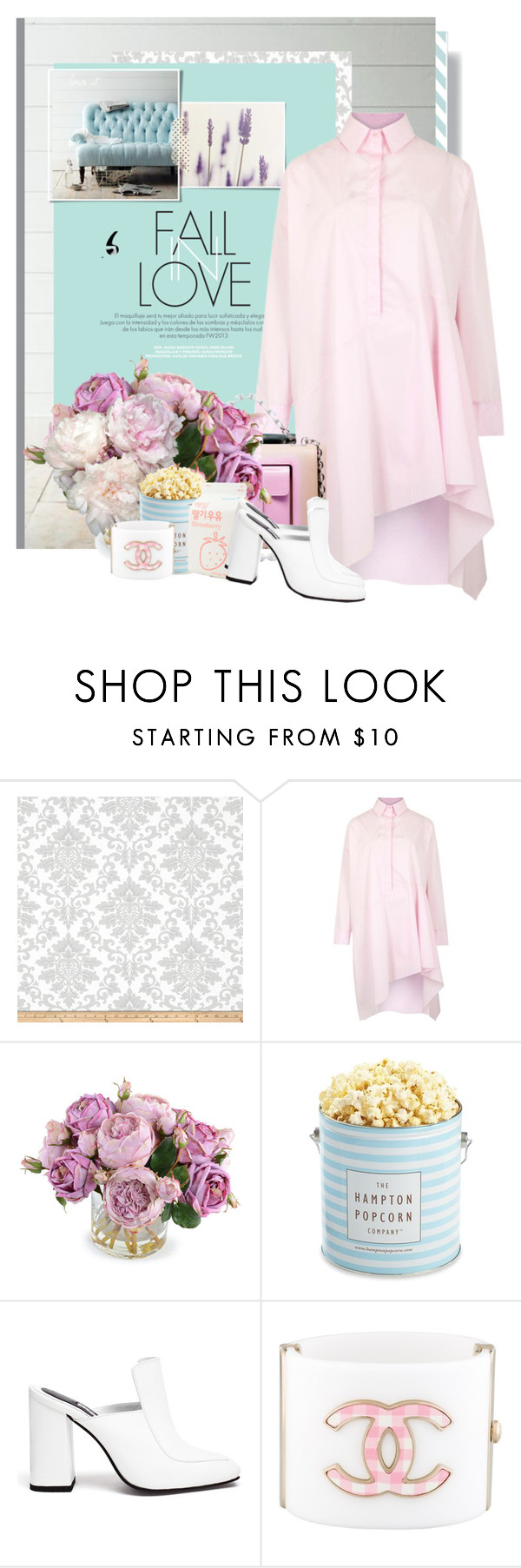 """FALL IN LOVE"" by it-is-just-me ❤ liked on Polyvore featuring Haze, Marques'Almeida, New Growth Designs, The Hampton Popcorn Company, Dorateymur and Chanel"
