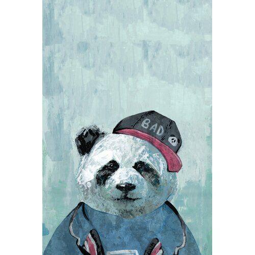 Leinwandbild Bad Panda East Urban Home Größe: 60,9 cm H x 40,6 cm B x 3,8 cm T