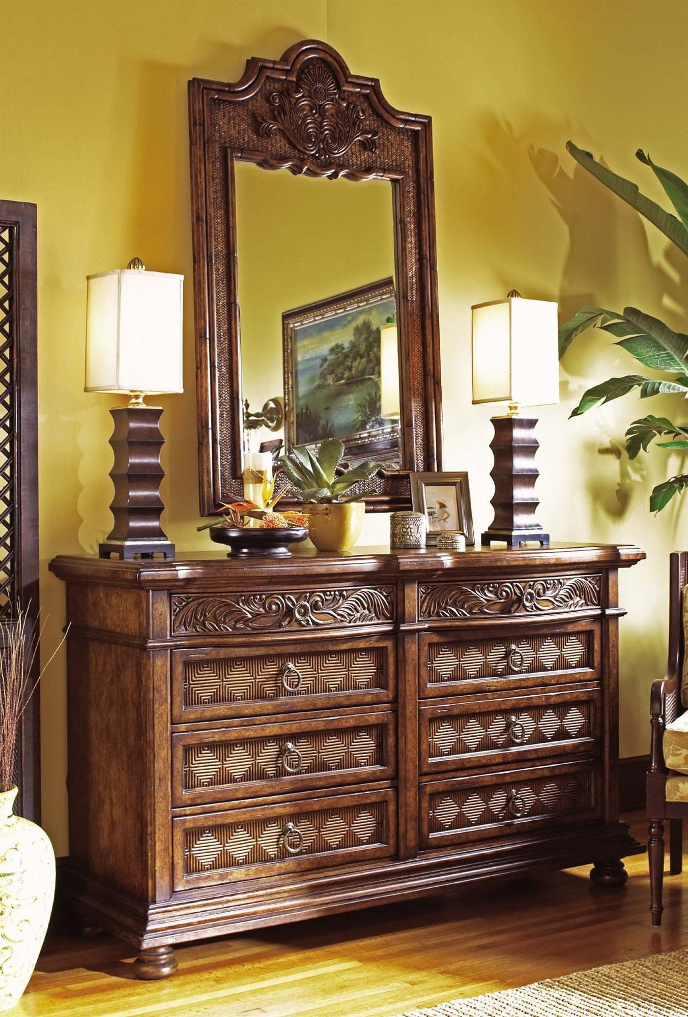 Tommy Bahama Bedroom Chest Cheap Jimbaran Bay Dresser Mirror Interiors