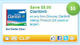 picture relating to Claritin Printable Coupons known as Printable Coupon: $5 off Claritin (24 ct. or much larger