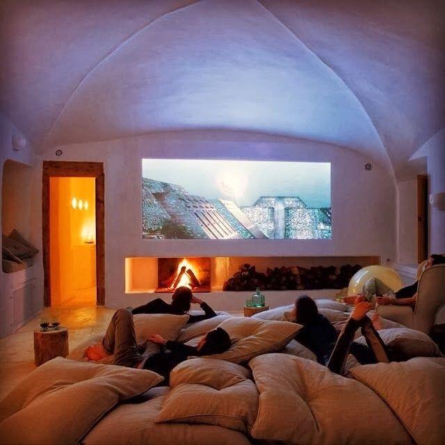Cinema Em Casa 55 Dicas Para Caprichar No Ambiente: Cinema Em Casa, Decoração De Casa E