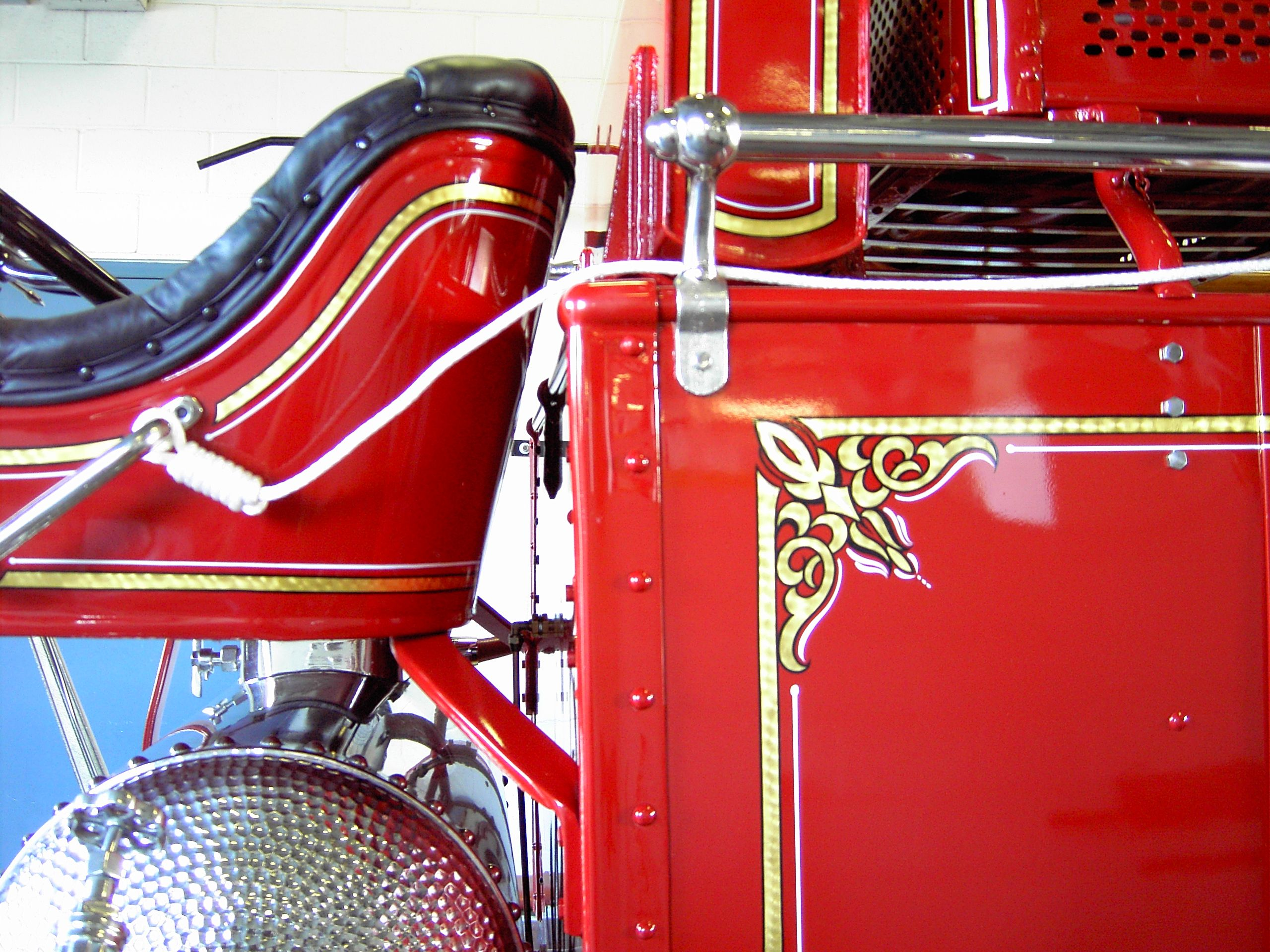 Gold Leaf Lettering And Striping On Fire Trucks And Cars