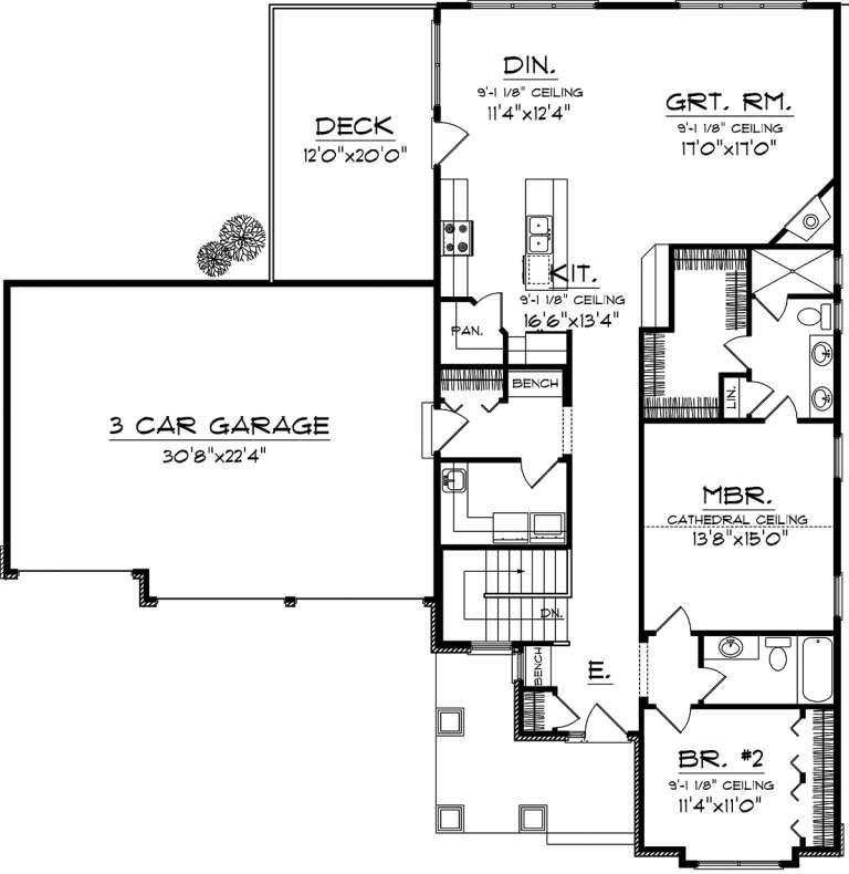 House Plan 1020 00229 Craftsman Plan 1 617 Square Feet