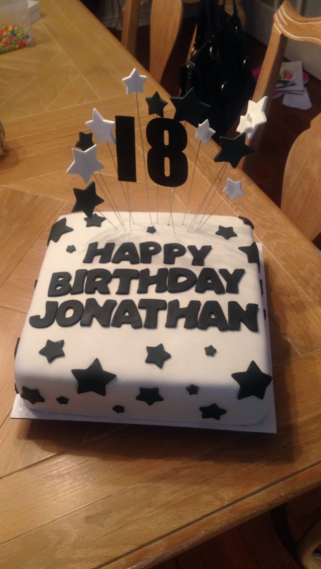 18th Birthday Cake Cakes Cupcakes In 2019 Boys 18th