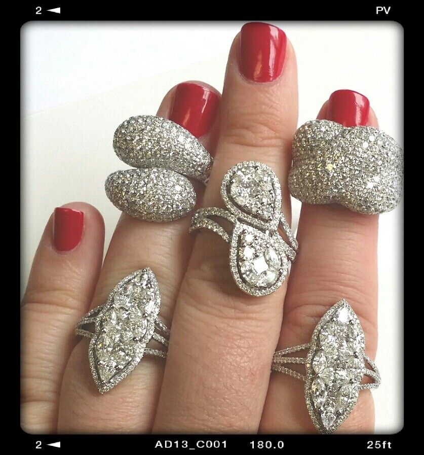 Assorted Diamond Rings - stunning for any occasion.  #jewelry #diamond #rings #accessories #laavanyajewels #couture #trends #fashion #style #instyle #luxury #bridaljewelry #engagement #wedding