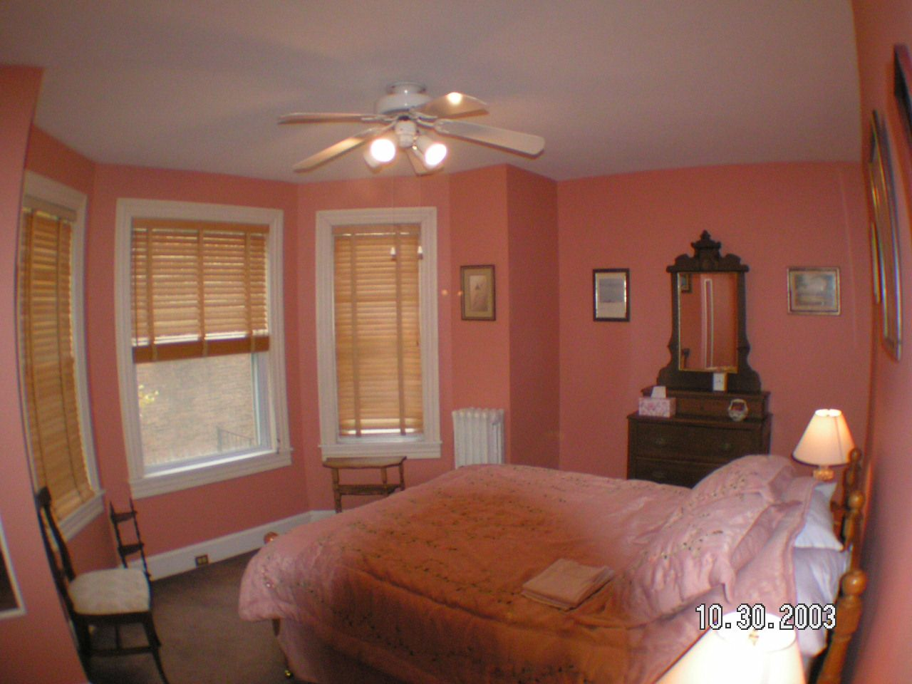 Pretty Pink and White Bedroom Design in Peach Color with ...