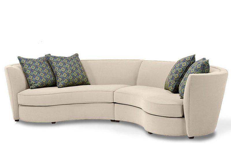 Custom Curved Shape Sofa Avelle 232 Fabric Sectional Sofas