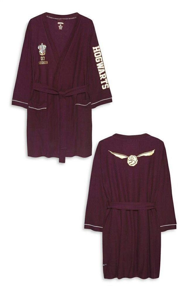 Ladies HARRY POTTER Bath Robe Dressing Gown Primark Cotton Bathrobe ...