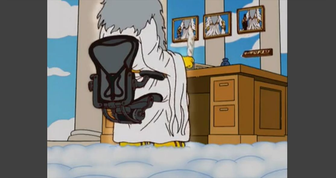God Has Aeron Chair By Herman Miller In The Simpsons