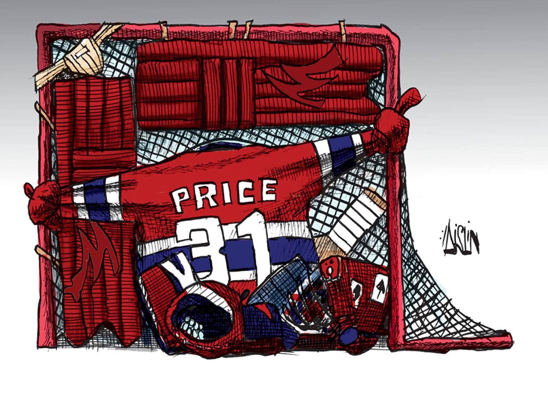CAREY! CAREY! Montreal canadiens, Editorial cartoon