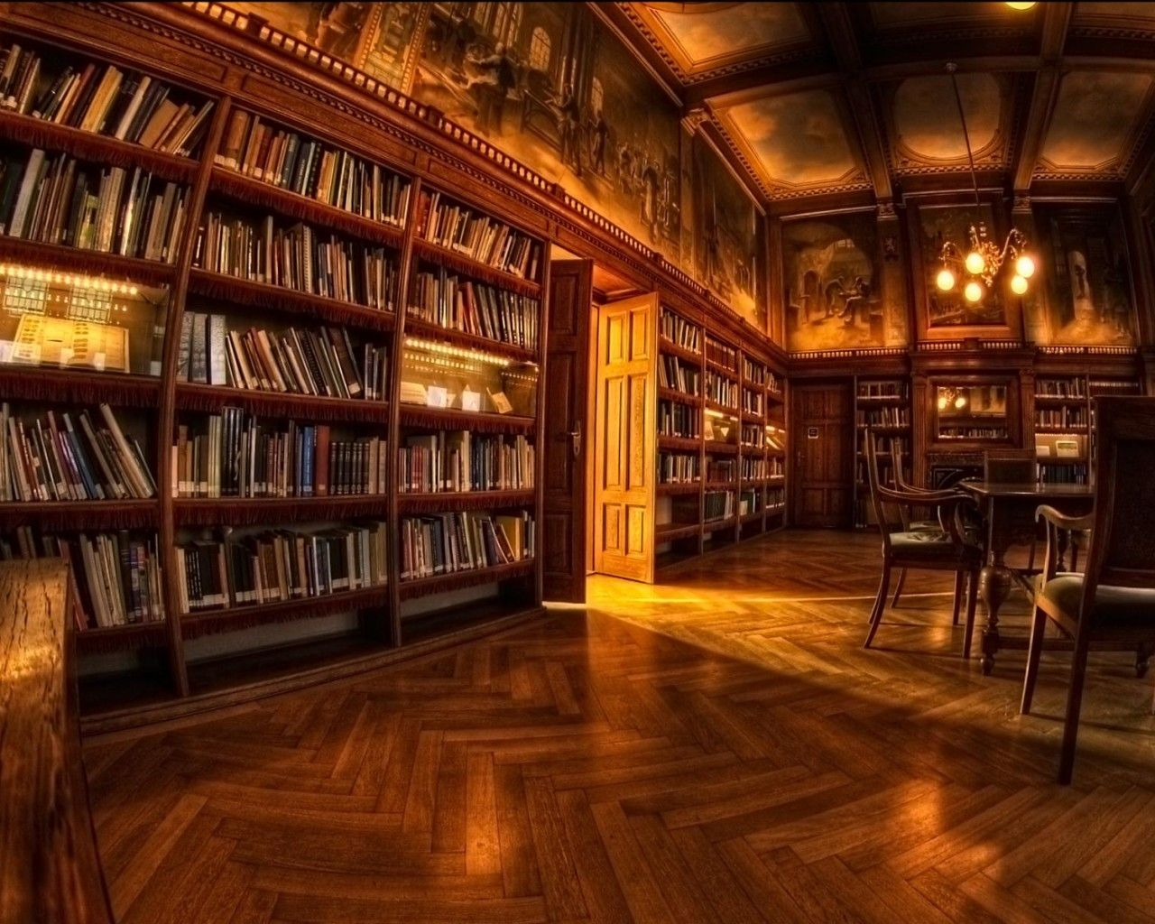Download Wallpaper 1280x1024 Room Design Library Shelves 1280x1024 Hd Background Biltmore House Home Libraries Old Libraries