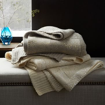 West Elm Throw Blanket Stunning Gilded Square Textured Throw #westelm  Grace Notes For Living Decorating Inspiration