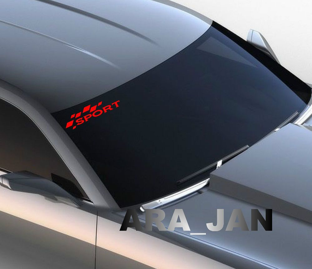 Windshield sport vinyl decal sport car racing sticker logo fits camaro red ara jan