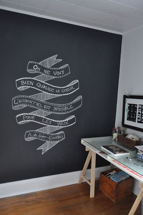 Chalkboard Wall Tumblr Wall Painting Living Room Chalkboard
