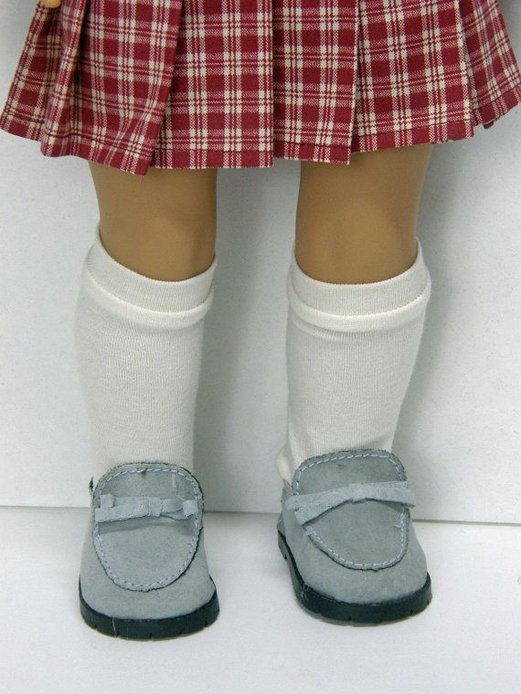 18 inch doll clothes AG doll clothes 18 in doll socks cream colored KNEE HI socks