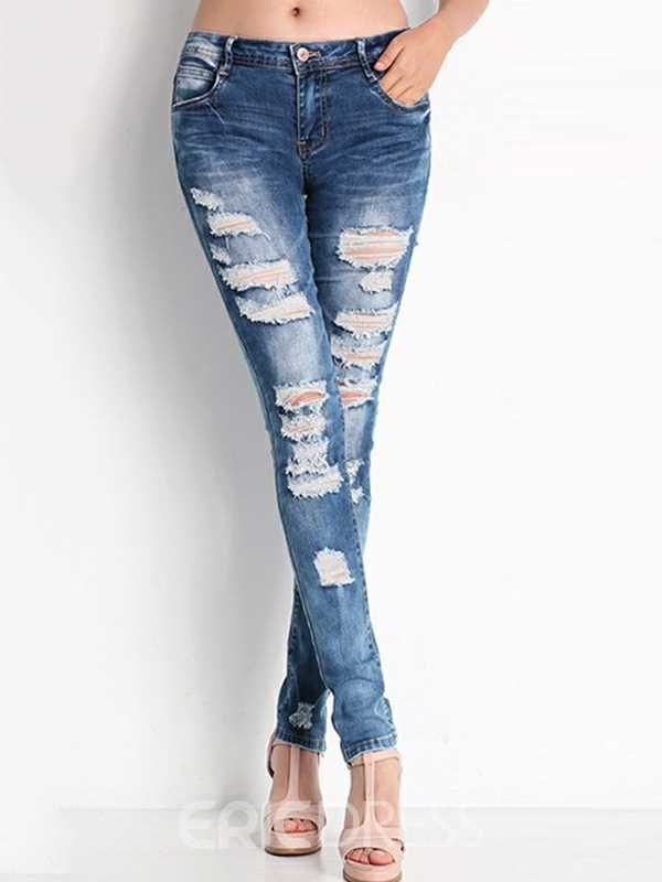 Jeans mit Löchern Damen, Outfit Ideen in 2020   Outfit ...