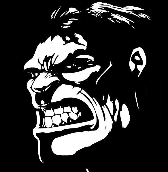 Angry Hulk Stencil Templates Siluetas Boliches