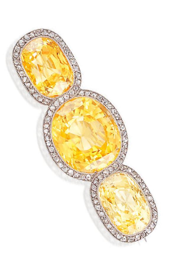 16414fbc5eeee Cartier - A Belle Epoque sapphire and diamond brooch, circa 1910 ...