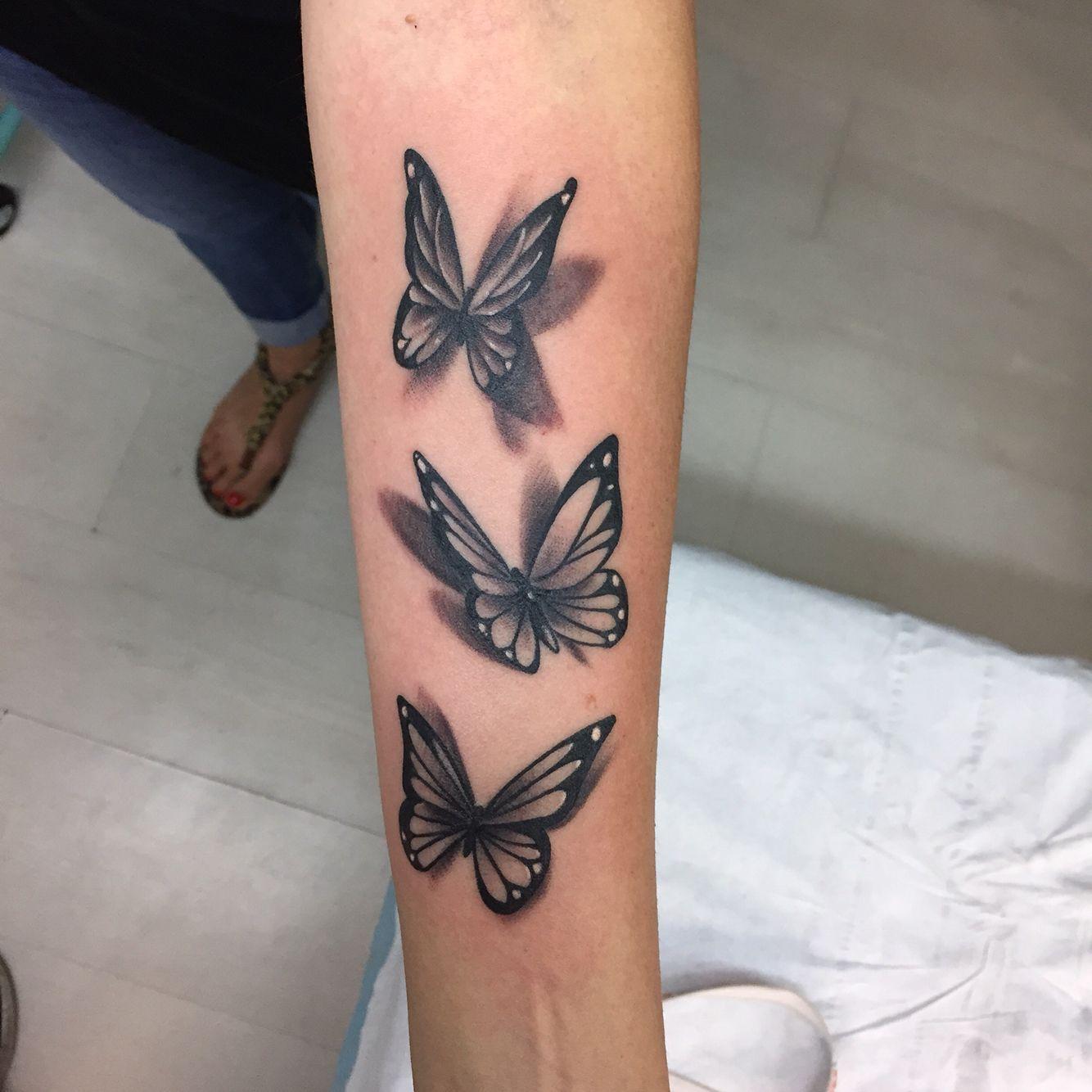 3D Schmetterling Tattoo, neu !! ich liebe es - Famous Last Words