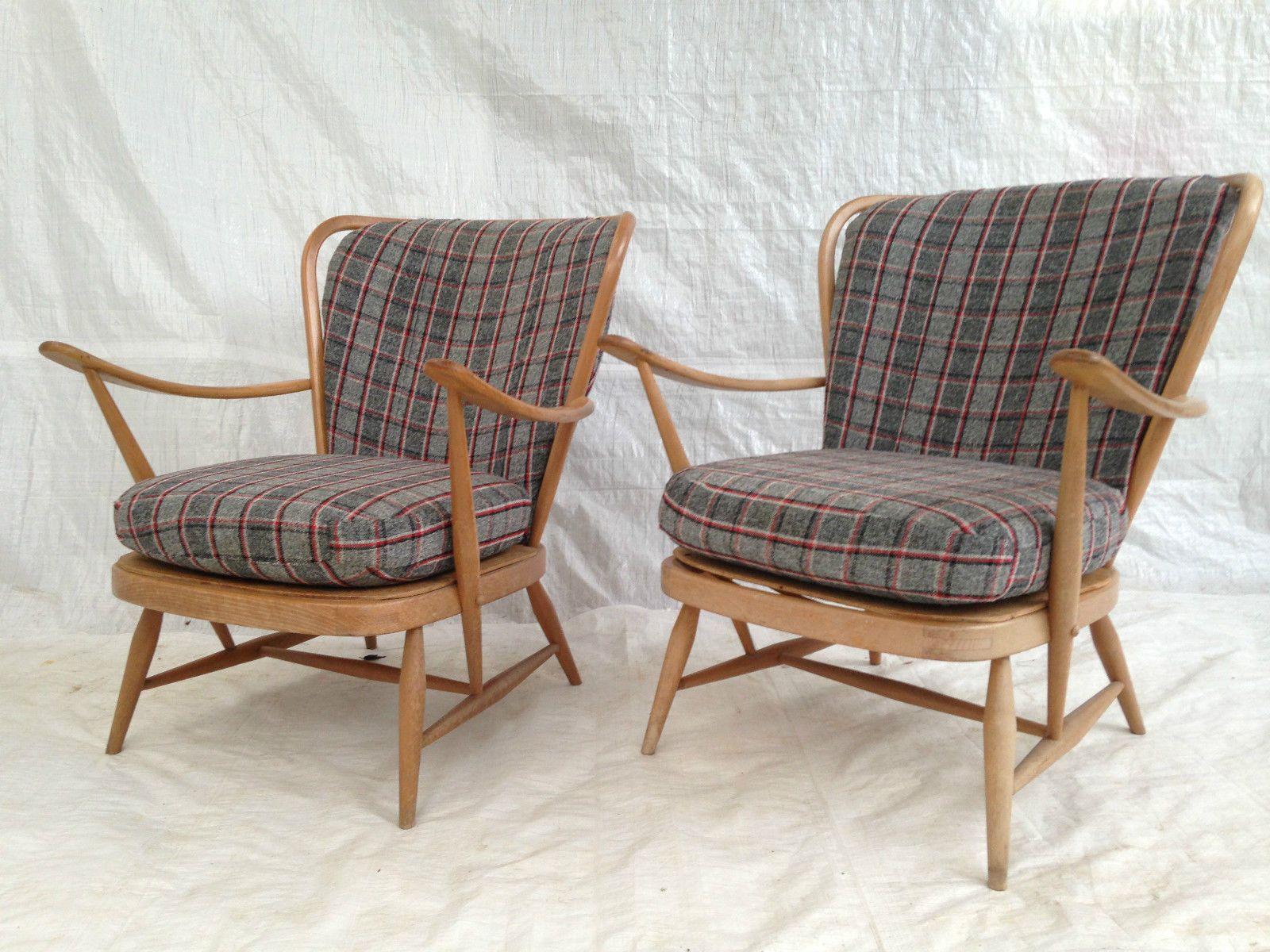 Vintage Retro Mid Century ERCOL Windsor Chair 1950s Blonde ...