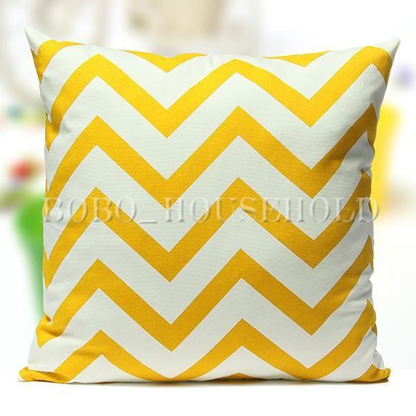Vintage-Stripe-Home-Decor-Cotton-Cushion-Cover-Pillows-Case-Zig-Zag-Wave-45-45cm