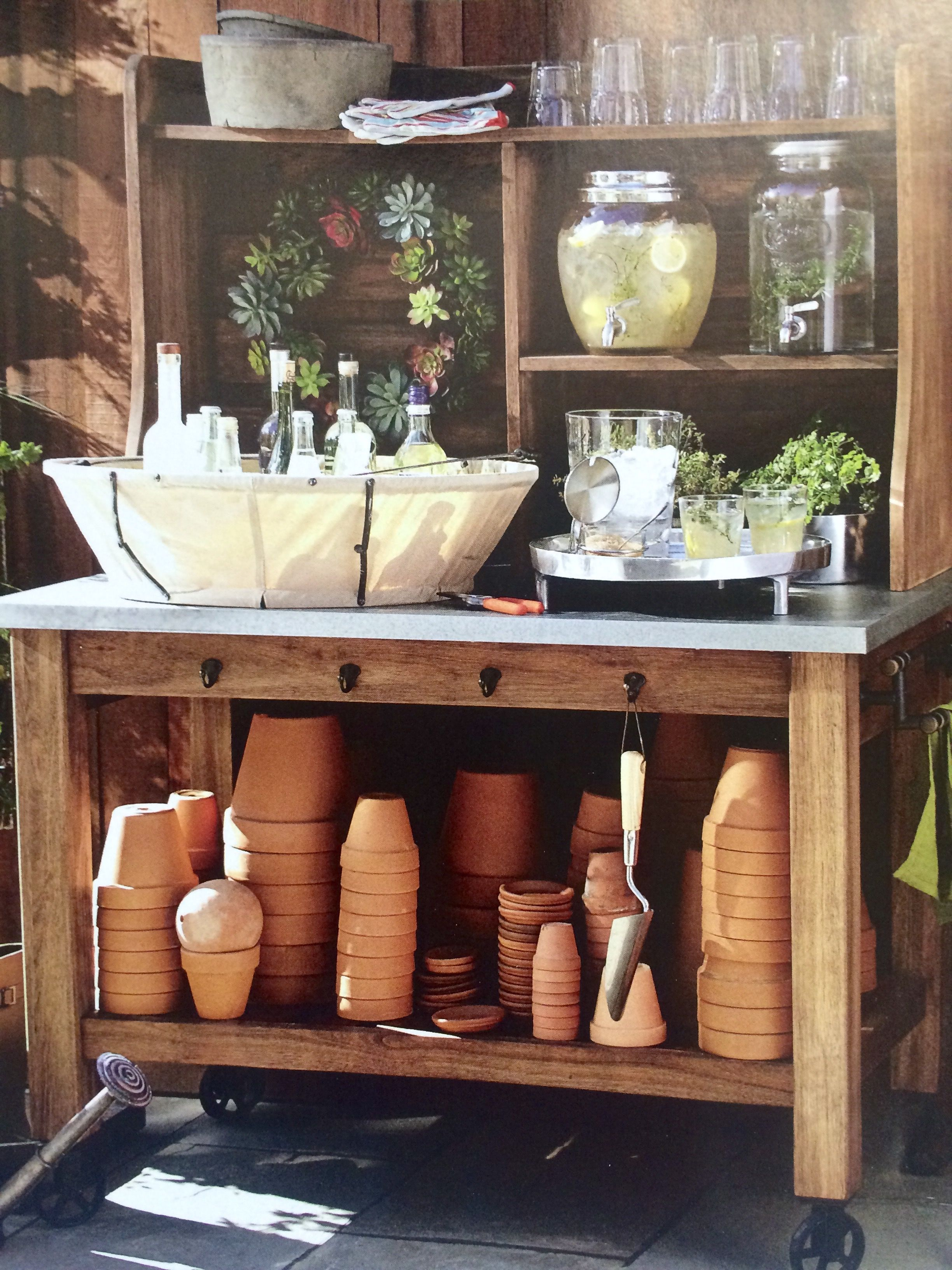 Pottery Barn Feb 2015 Outdoor Drink Station Furniture