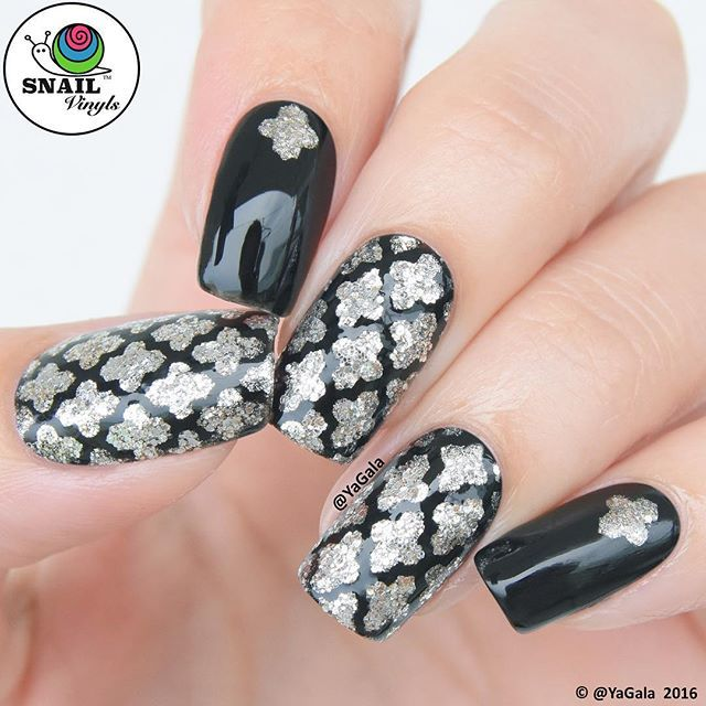 Instagram Media By Yagala Moroccan Style Nail Art With Nail Vinyls