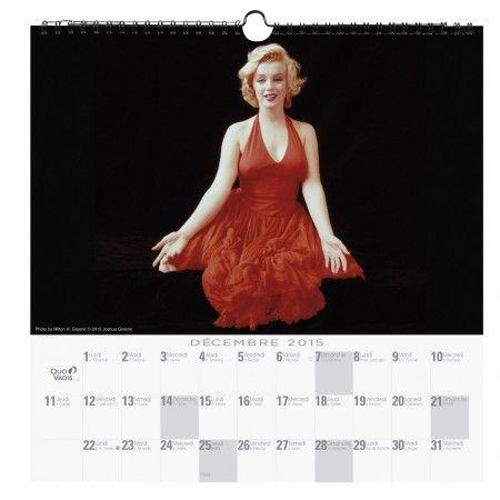 CALENDRIER FEUILLES, 30x30cm Marilyn attitude, Quo Vadis