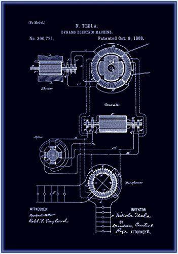 Amazon dynamo electric machine schematic nikola tesla c1888 amazon dynamo electric machine schematic nikola tesla c1888 fine blueprint malvernweather Gallery