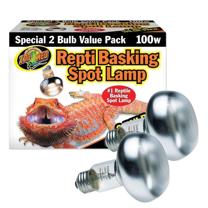 Zoo Med Repti Basking Spot Lamp 100w 2 Pk Zoo Med Reptiles Bearded Dragon Heat Lamp