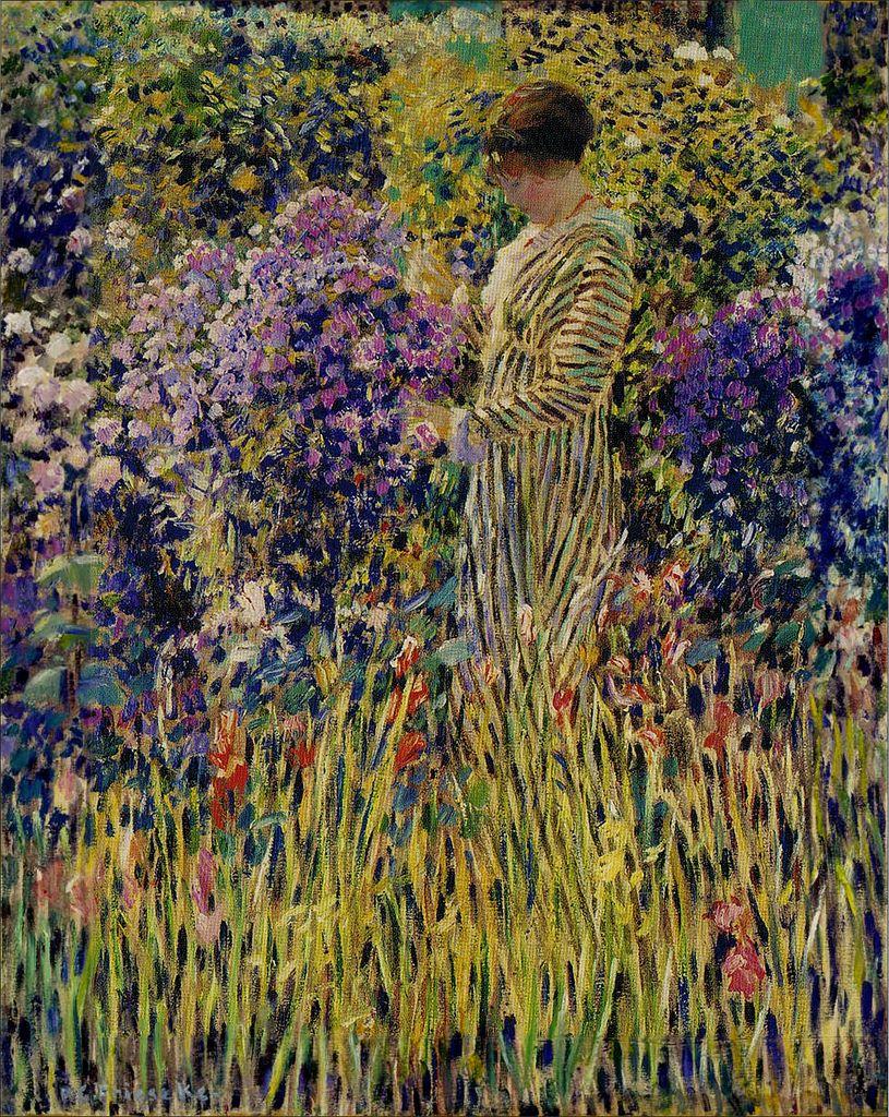 Frederick Carl Frieseke \'Lady in a Garden\' 1912 | Art - Német festők ...