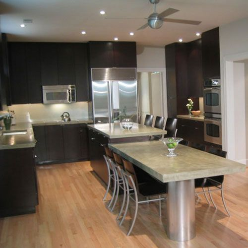 Kitchen Renovations Dark Cabinets: Dark Cherry Cabinets Wood Flooring - Kitchen Tile Backsplashes