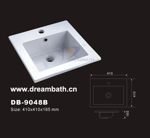 Product Name Above Counter Basin Model No Db 9048b Dimension