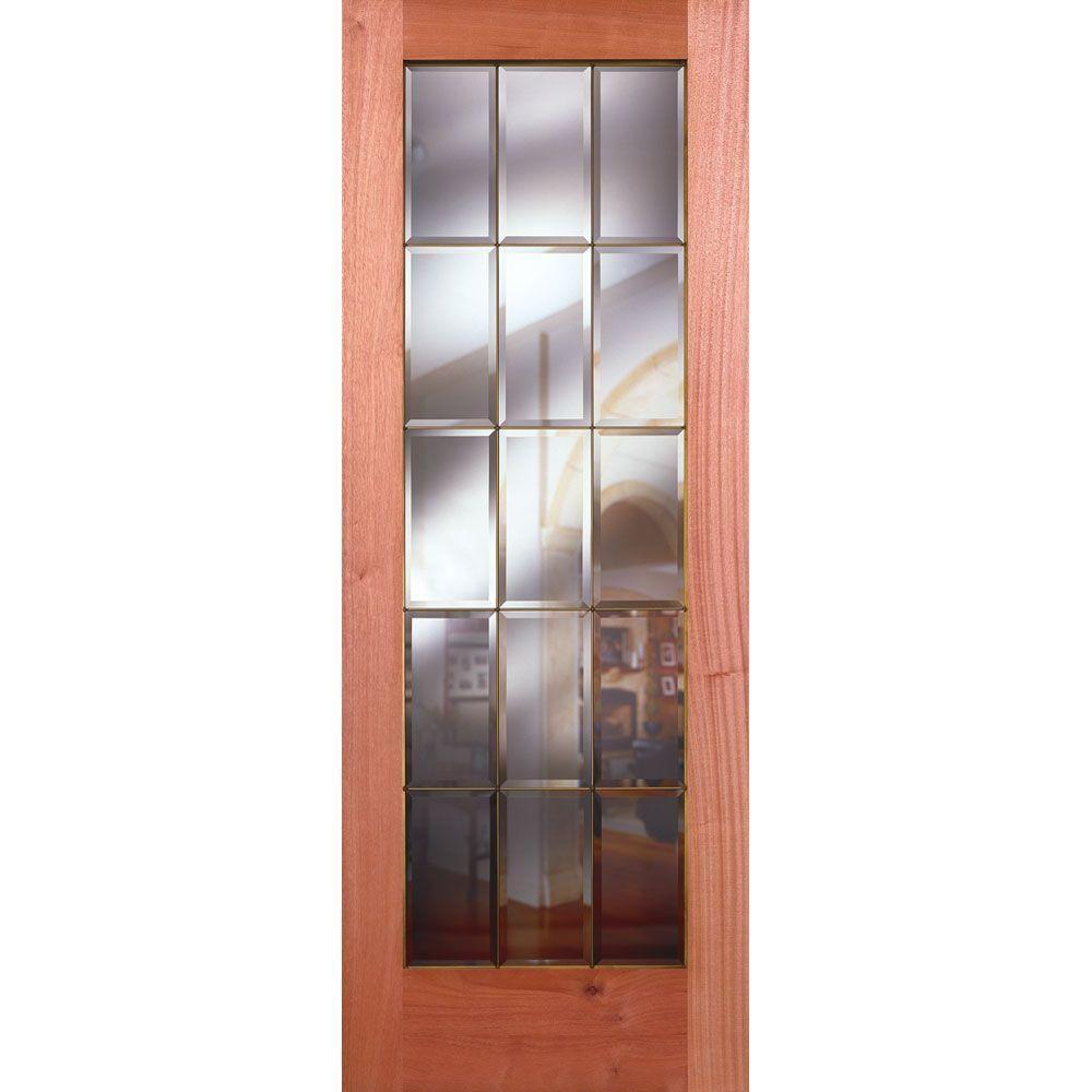 Feather River Doors 36 In X 80 In 15 Lite Unfinished Mahogany Clear Bevel Brass Woodgrain Interior Door Slab Mahogany Ready To Stain In 2020 Interior Wood Stain Oak Interior Doors Interior Led Lights