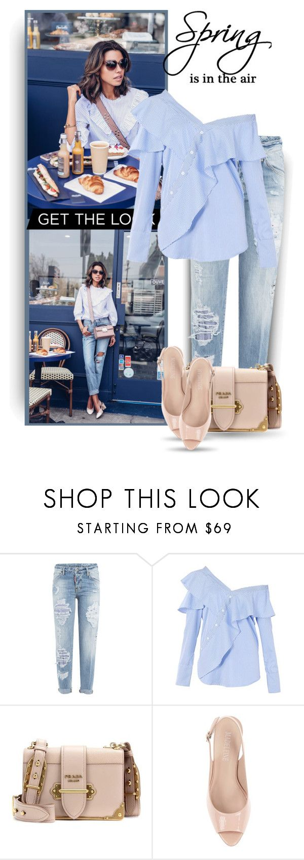 """""""Spring Staples"""" by bliznec ❤ liked on Polyvore featuring Dsquared2, FAIR+true, Prada and Spring"""