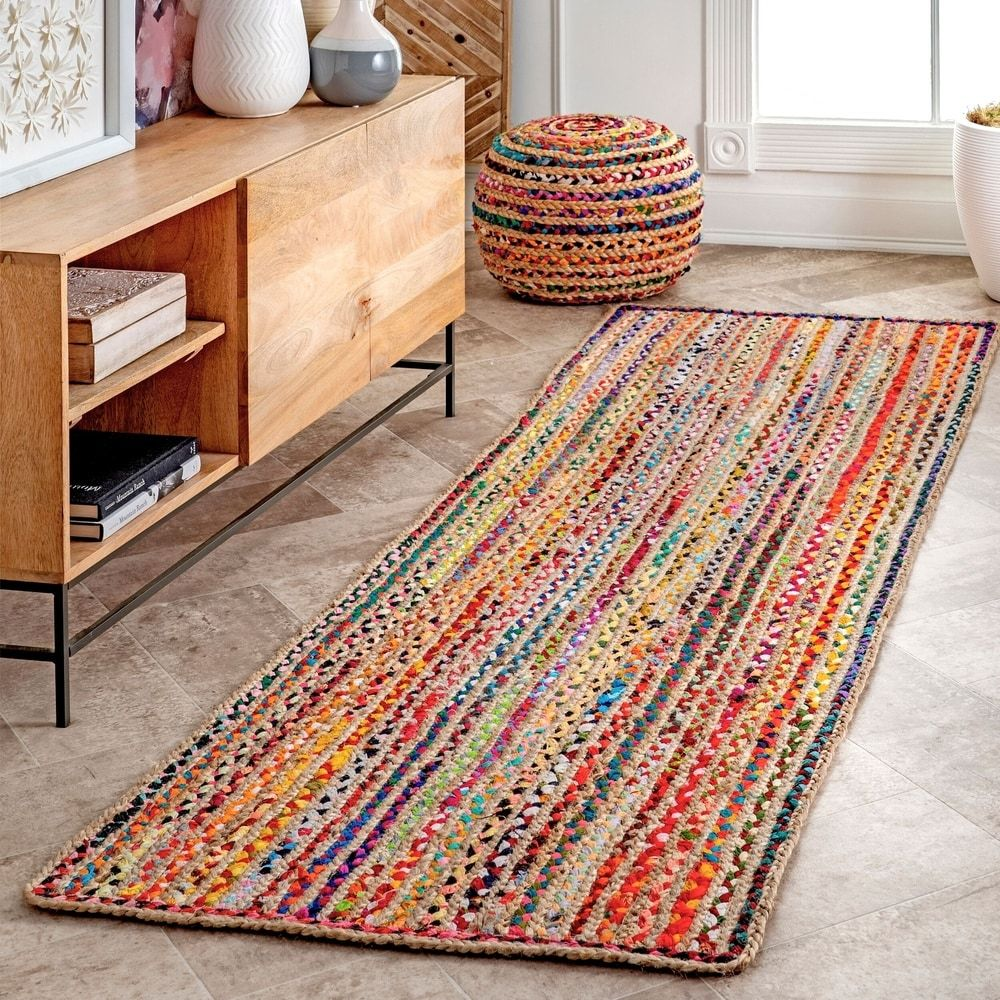 Braided Cotton Jute Area Rug In 2020