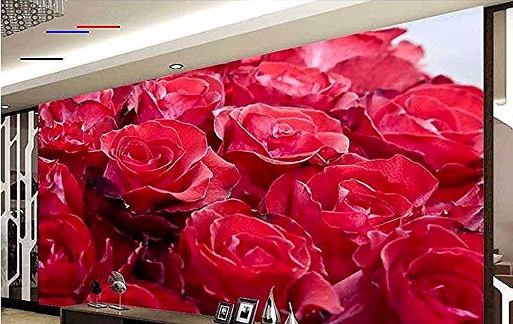 Keren 30 Foto 3d Bunga Mawar Us 10 5 65 Off Kustom Dinding Mural
