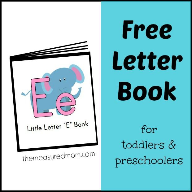 Letter E Songs & Rhymes Mini-Book